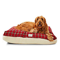 Harry Barker® Plaid Sherpa Rectangle Dog Bed in Red