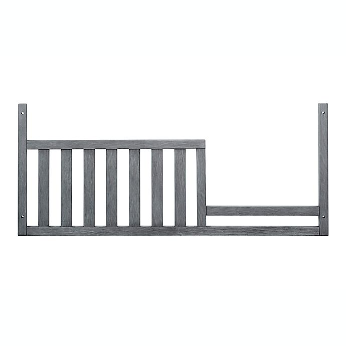 Alternate image 1 for Soho Baby Manchester Guard Rail Crib in Rustic Grey