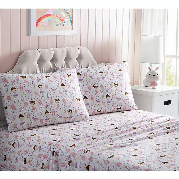 Alternate image 1 for Kute Kids Queen Ballerina Sheet Set in Pink