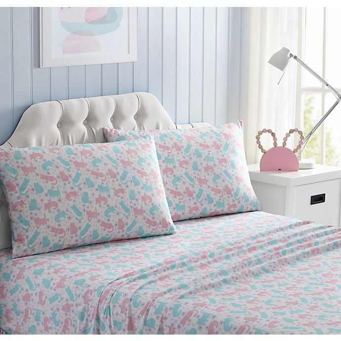 Alternate image 1 for Kute Kids Queen Kitty Sheet Set in Pink