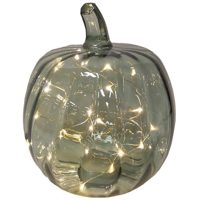 Alternate image 1 for Bee & Willow™ 10-Inch Glass LED Pumpkin