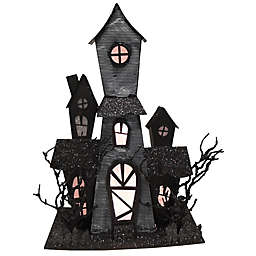 LED Haunted House Tabletop Decor in Black/Clear