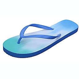 Wild Sage™ Francesca Ombre Women's Small Flip Flops in Blue