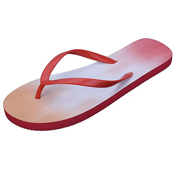 Alternate image 1 for Wild Sage™ Francesca Ombre Women's Medium Flip Flops in Orange