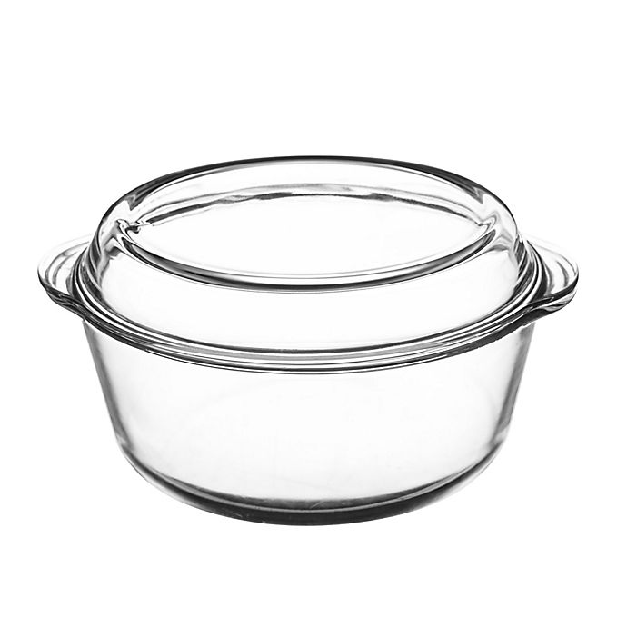Alternate image 1 for Mason Cash® Classic Collection 3.2 qt. Clear Casserole Dish with Lid