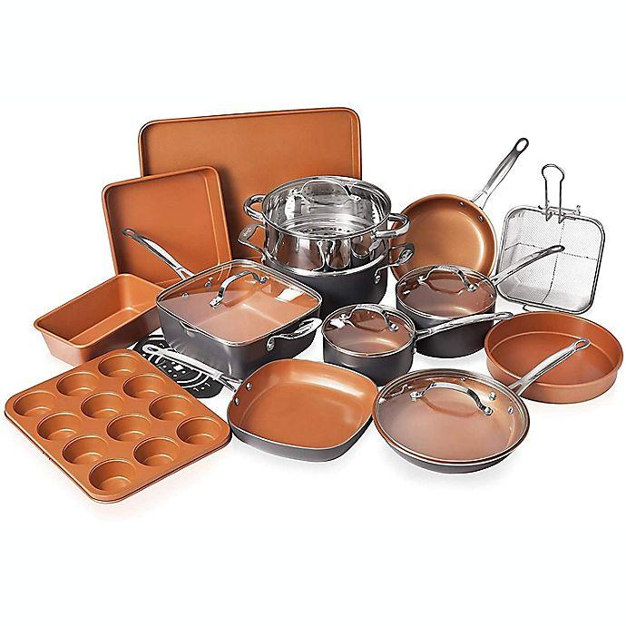 Alternate image 1 for Gotham™ Nonstick Steel 20-Piece Cookware & Bakware Set