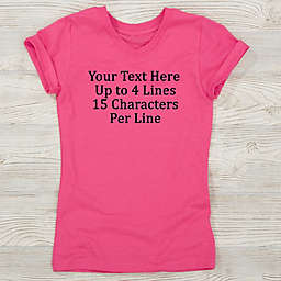 Write Your Own Personalized Girl's Fitted Tee