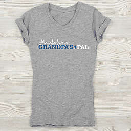 Grandpa's Favorite Personalized Girl's Fitted Tee