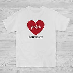 Scripty Heart Personalized V-Day Hanes® Kids T-Shirt