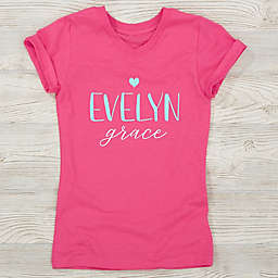 Loving Name Personalized Girl's Fitted Tee