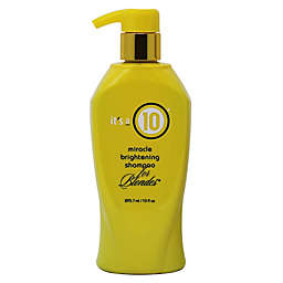 It's a 10® 10 oz. Miracle Brightening Blonde Shampoo