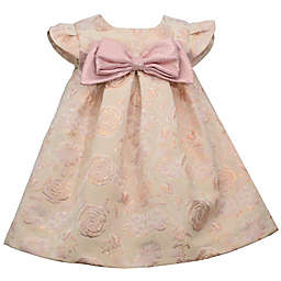 Bonnie Baby Blush Floral Dress with Big Bow in Pink