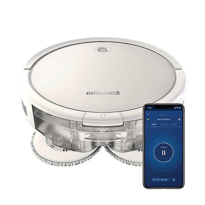 Alternate image 1 for BISSELL® SpinWave Plus 2-in-1 Robotic Mop and Vac in Pearl White
