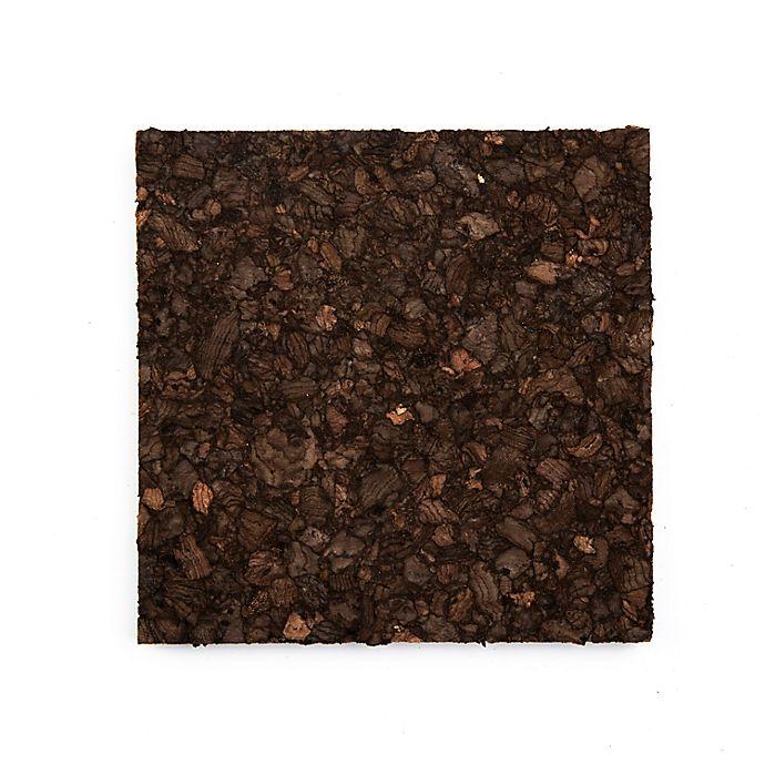 Alternate image 1 for Dark Cork Coasters (Set of 6)