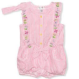 Nannette Baby® 2-Piece Seersucker Romper and Headband Set in Pink