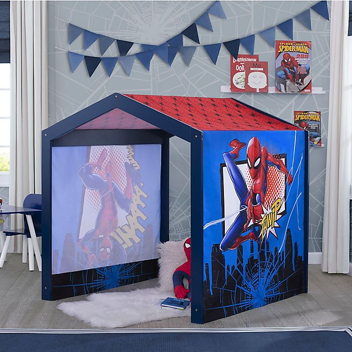 Alternate image 1 for Delta Children Marvel® Spider-Man Indoor Tent Playhouse in Blue