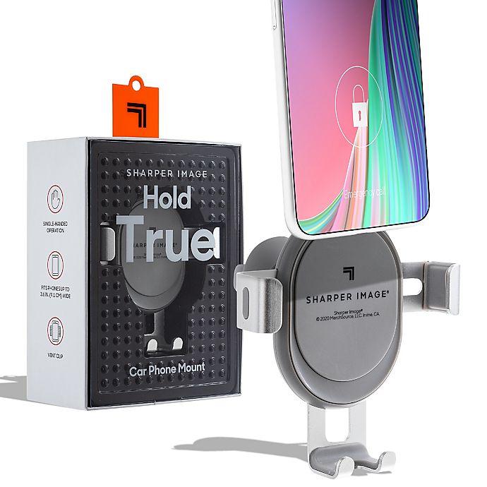 Alternate image 1 for Sharper Image® Car Phone Holder Cradle in Grey