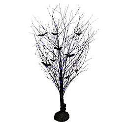 48-Inch LED Halloween Branch Tree in Black/Purple