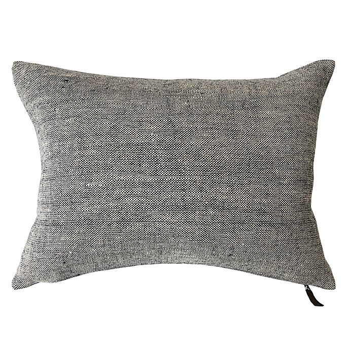 Alternate image 1 for Bee & Willow™ Home Solid Woven Linen Oblong Throw Pillow