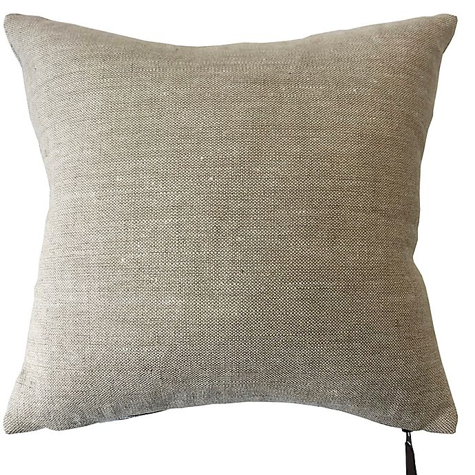 Alternate image 1 for Bee & Willow™ Home Solid Woven Linen Square Throw Pillow