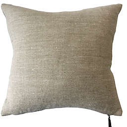 Bee & Willow™ Home Solid Woven Linen Square Throw Pillow in Light Blue