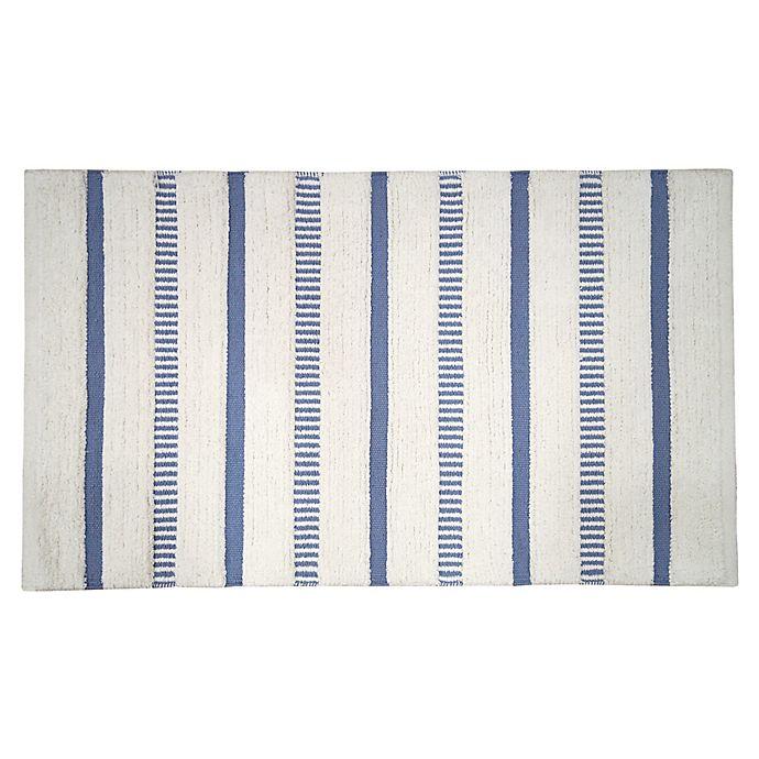 Alternate image 1 for Bee & Willow™ Coastal Stripe Bath Rug in Blue