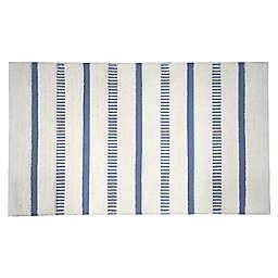 Bee & Willow™ Coastal Stripe Bath Rug in Blue