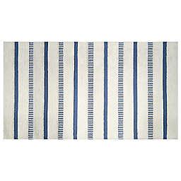 "Bee & Willow™ 24"" x 40"" Coastal Stripe Bath Rug in Blue"