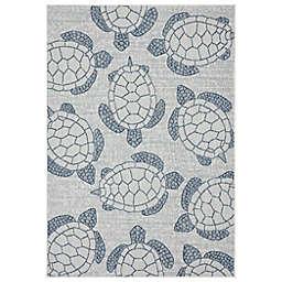 Mercer Street  Rugs Turtle Bay Indoor/Outoor Rug in Blue/Multi