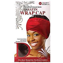 Donna Satin Wrap Cap in Black