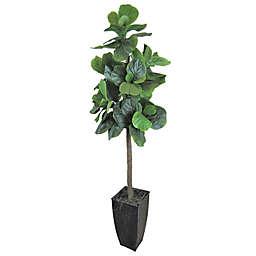 Fiddle Leaf 60-Inch Fig Tree in Deco Black Metal Pot