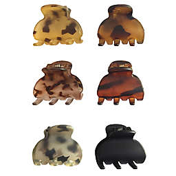 Riviera 6-Pack Small Matte Tortoise Octo Claw Clips