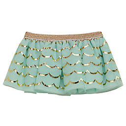 Baby Starters® Newborn Tutu Skirt in Mint with Gold Lace