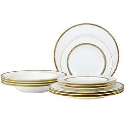 Noritake® Haku 12-Piece Dinnerware Set in White/Gold