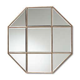Baxton Studio™ Autumn Octagon Accent Wall Mirror in Antique Bronze
