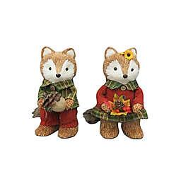 9-Inch Assorted Fall Fox Critter Figurine