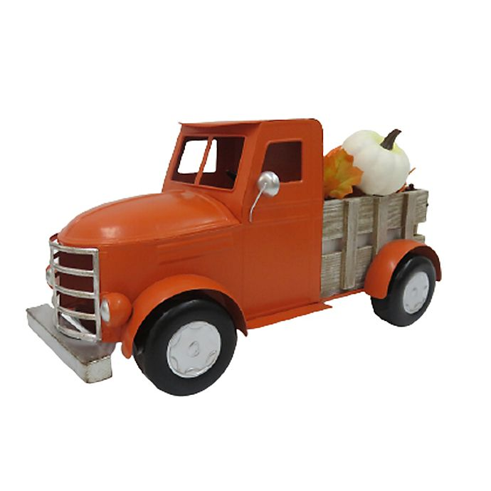 Alternate image 1 for Fall Harvest 16.5-Inch Metal Truck Decoration