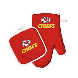 NFL Kansas City Chiefs Oven Mitt and Pot Holder Set