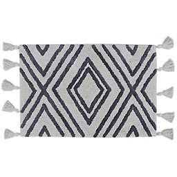Wild Sage™ Melody Diamond Rug in Ivory/Grey