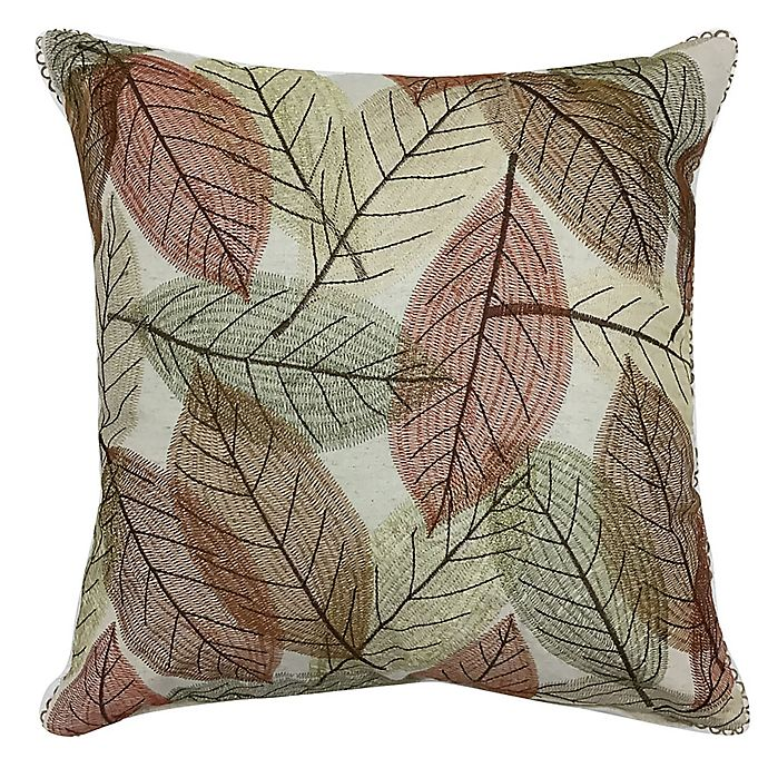 Alternate image 1 for Harvest Tossed Leaves Square Throw Pillow