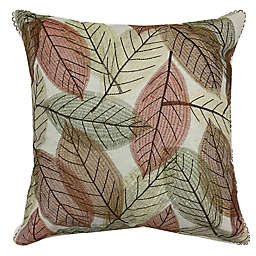 Harvest Tossed Leaves Square Throw Pillow
