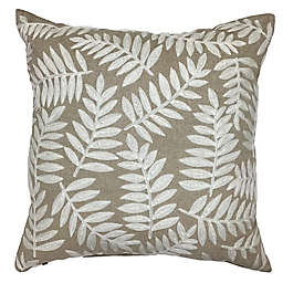 Bee & Willow™ Embroidered Foliage Square Throw Pillow in Neutral