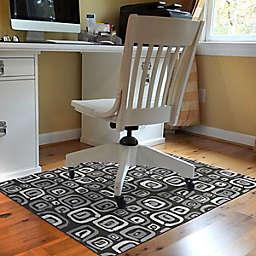 Bungalow Flooring Interstellar 3' x 4' Desk Chair Mat in Black