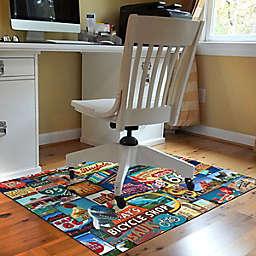 Bungalow Flooring Roadside America 3' x 4' Desk Chair Mat