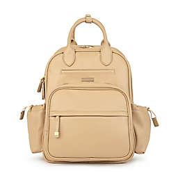 Ju-Ju-Be® Million Pockets Faux Leather Diaper Backpack in Caramel Latte