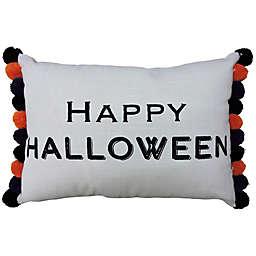 """Happy Halloween"" Oblong Throw Pillow"