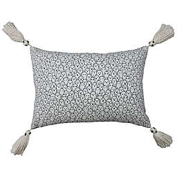 Ghosts Oblong Throw Pillow in Black/Cream