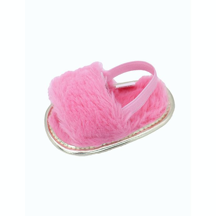 Alternate image 1 for Stepping Stones Faux Fur Slipper in Coral