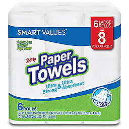 Smart Values™ 6-Count Large Rolls Ultra Strong 2-Ply Paper Towels in Choose-a-Size