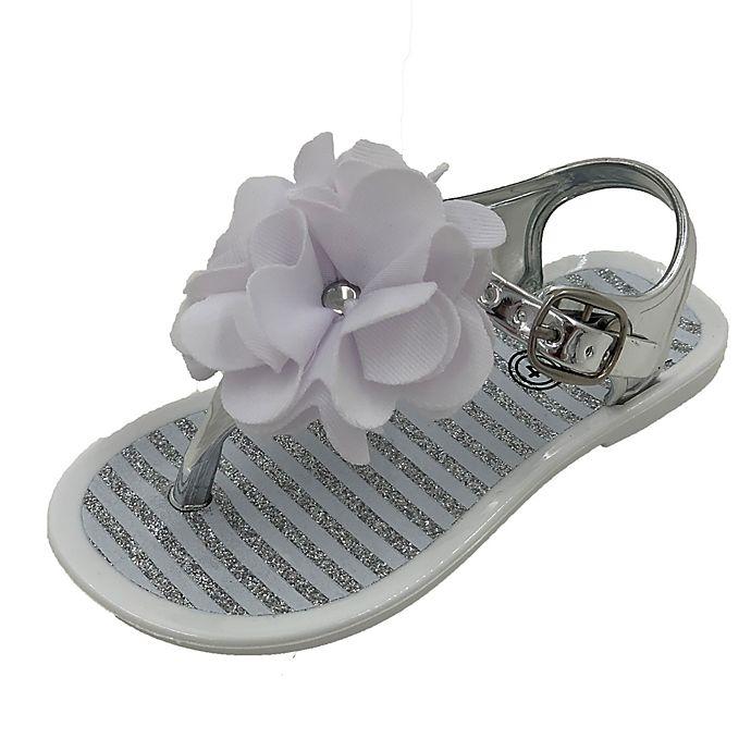 Alternate image 1 for Stepping Stones Flower Jelly Sandal